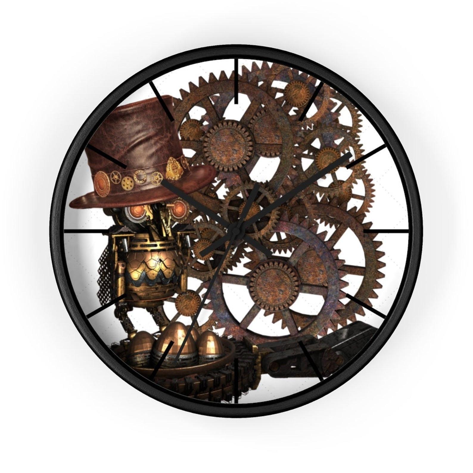 Mechanical Owl - steampunk wall clock