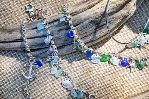 Sea glass jewelry by Sea Glass Designs in By Hand lookbook