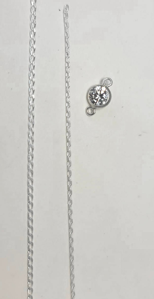 our 2 sterling chains side by side
