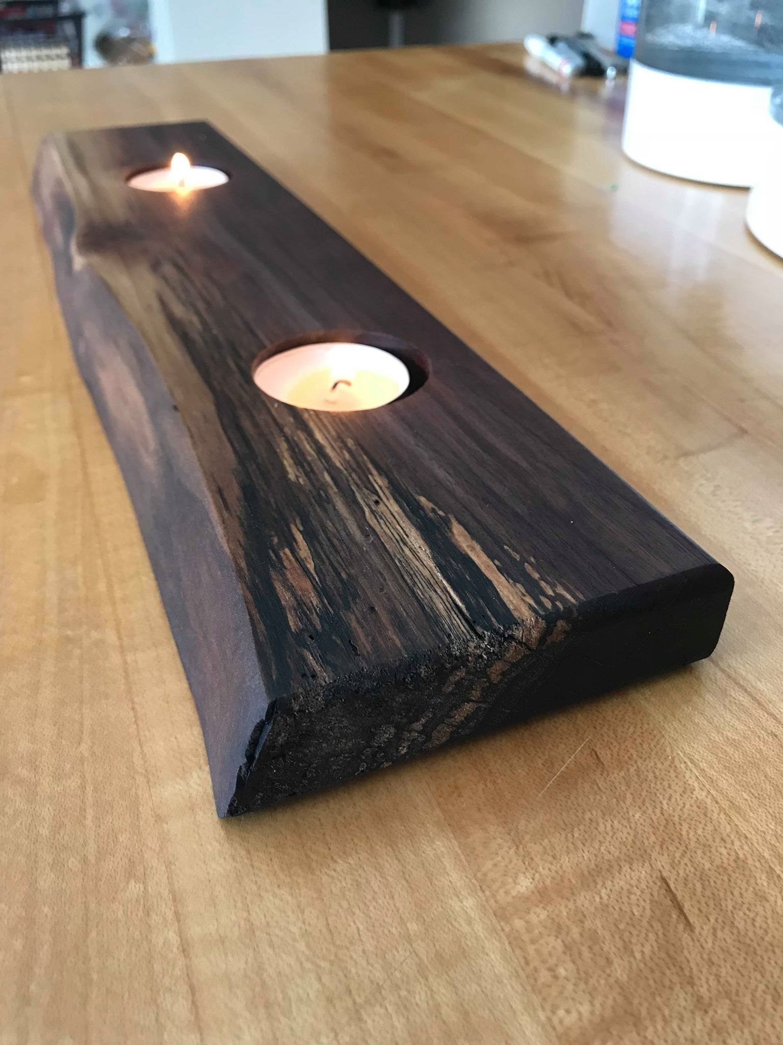 Live Edge Walnut Candle Holder