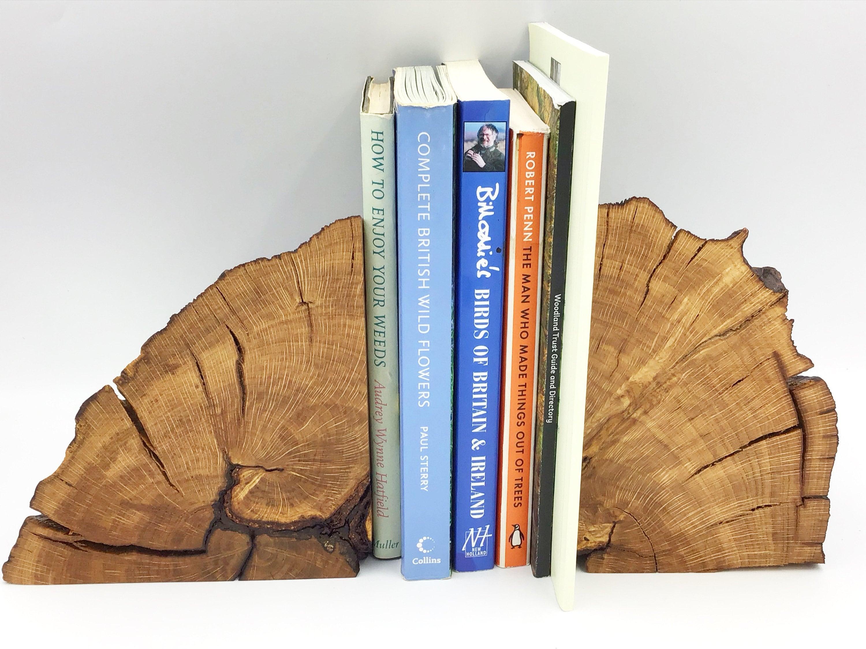 Oak Heartwood Bookends