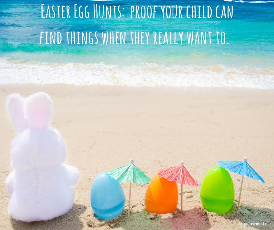 Easter egg hunts:  proof your child can find things when they really want to