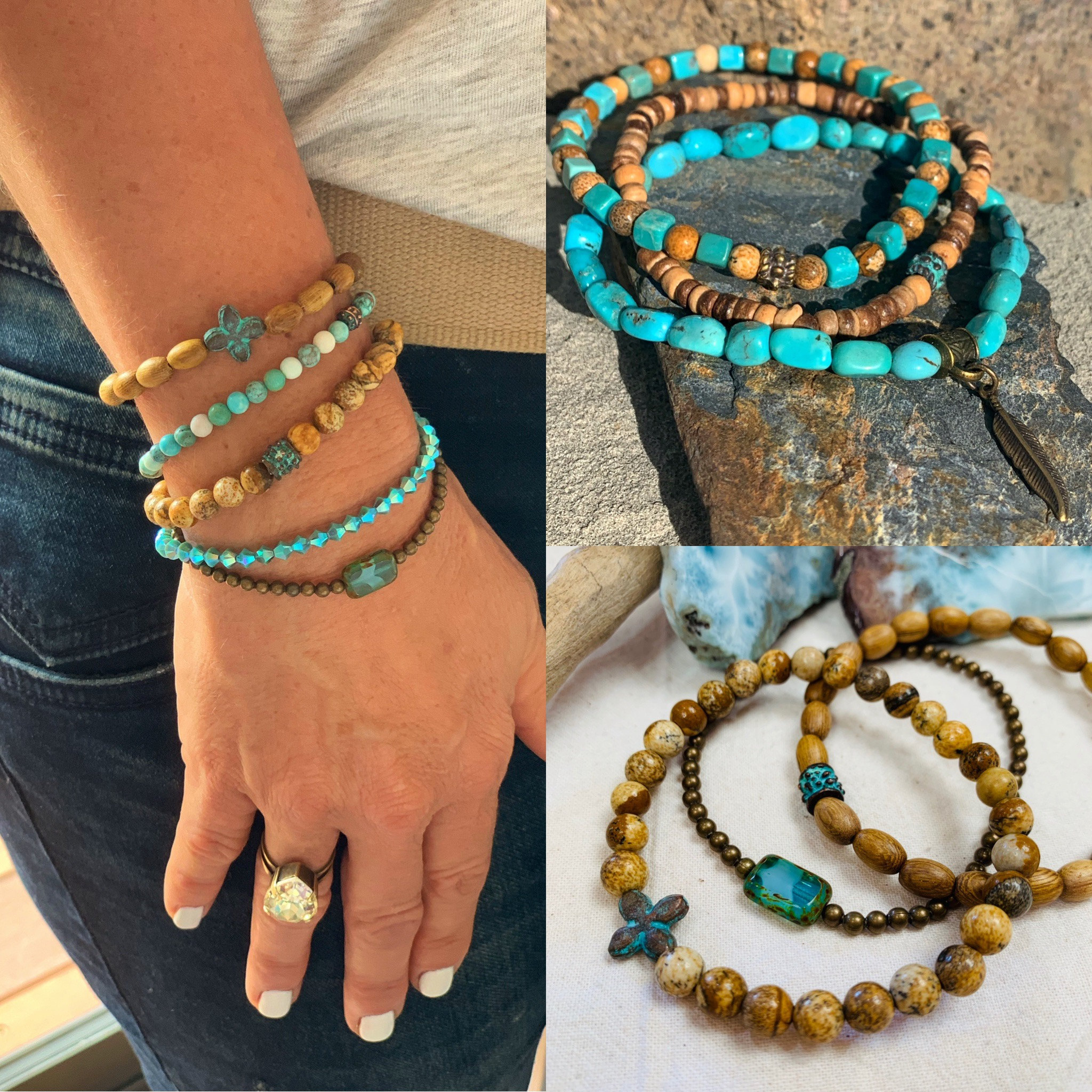 Turquoise and Picture Jasper - mixing ideas