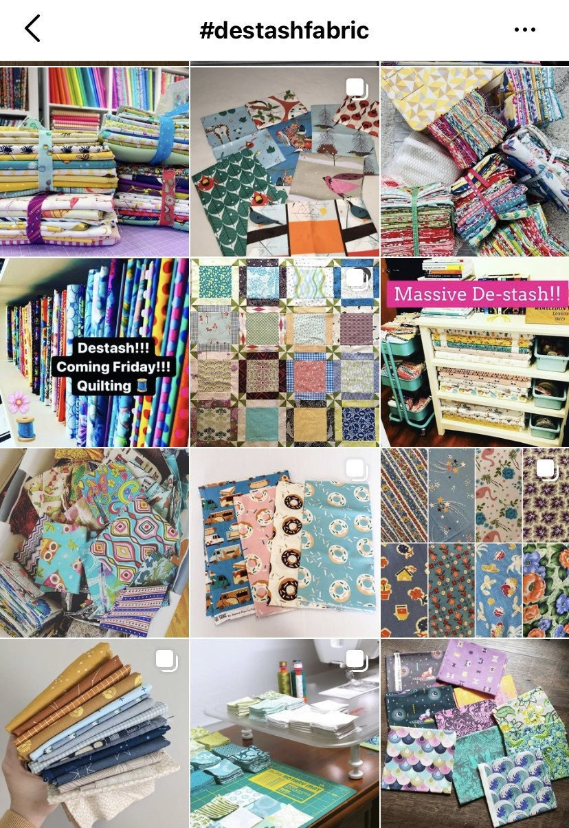 Example of quilt fabrics for sale on Instagram