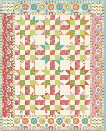 quilt pattern utilizing riley blakes first collection, just dreamy