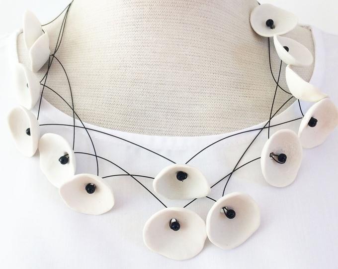 statement porcelain necklace