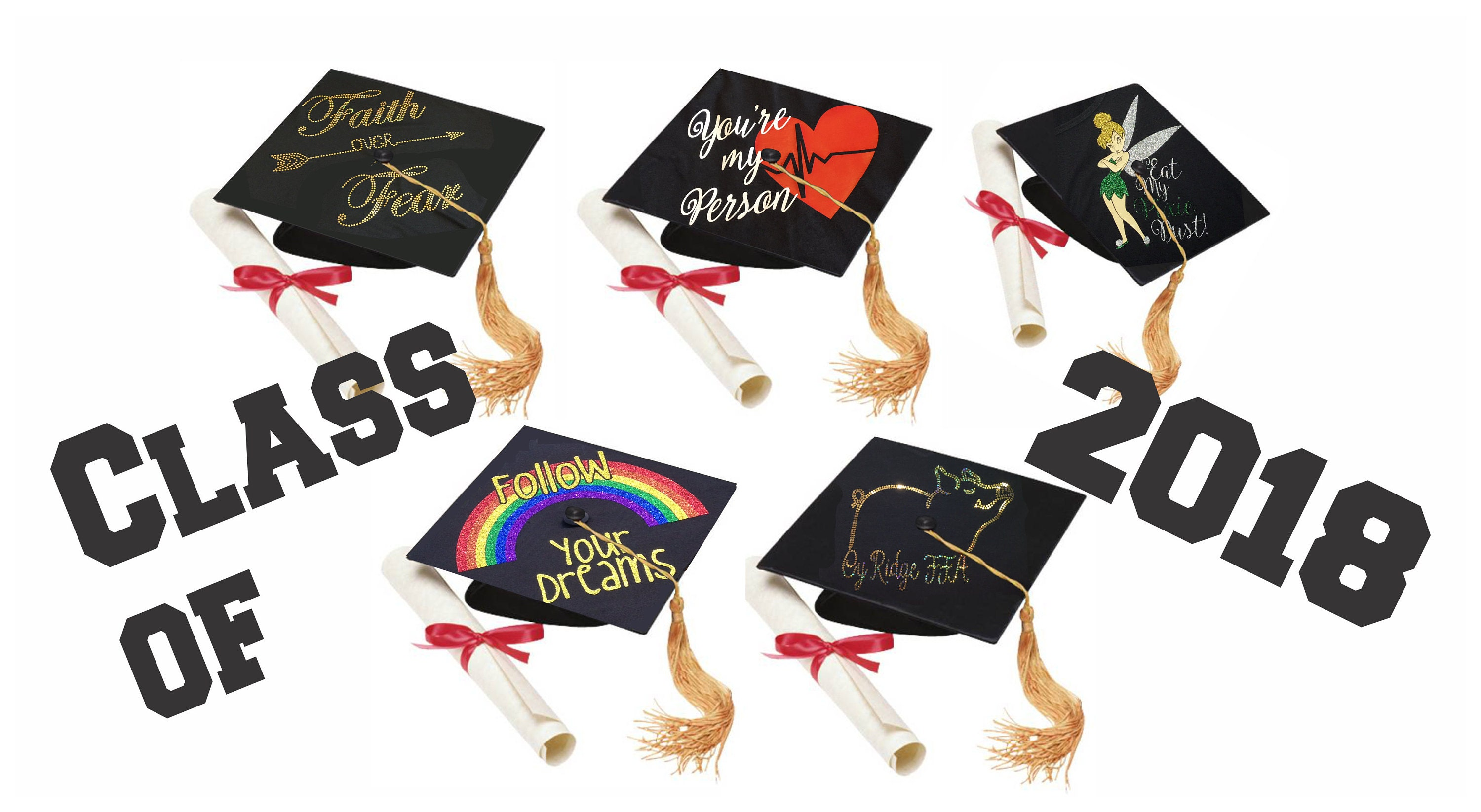 personalized graduation cap toppers