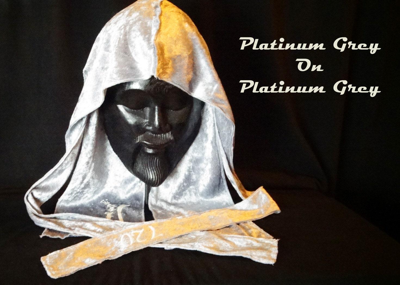 Platinum Grey Velvet Du-Rag