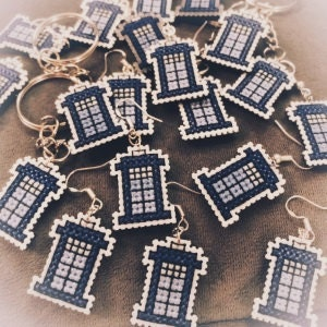 Tardis keyrings and earrings