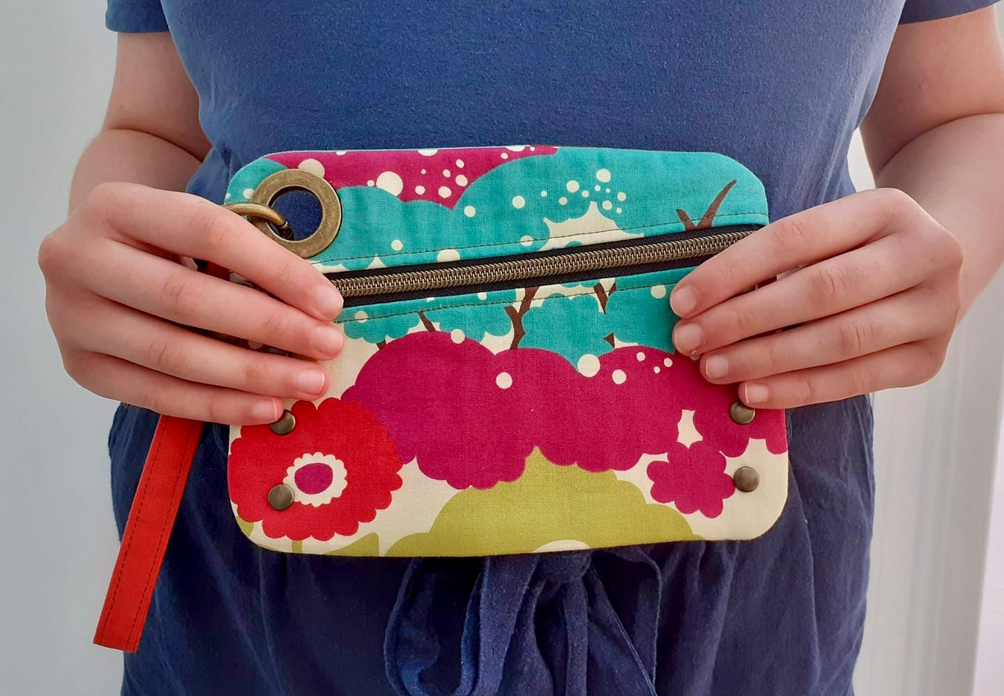 Unagi assymetrical clutch Sincerely Jen Pattern tester bag