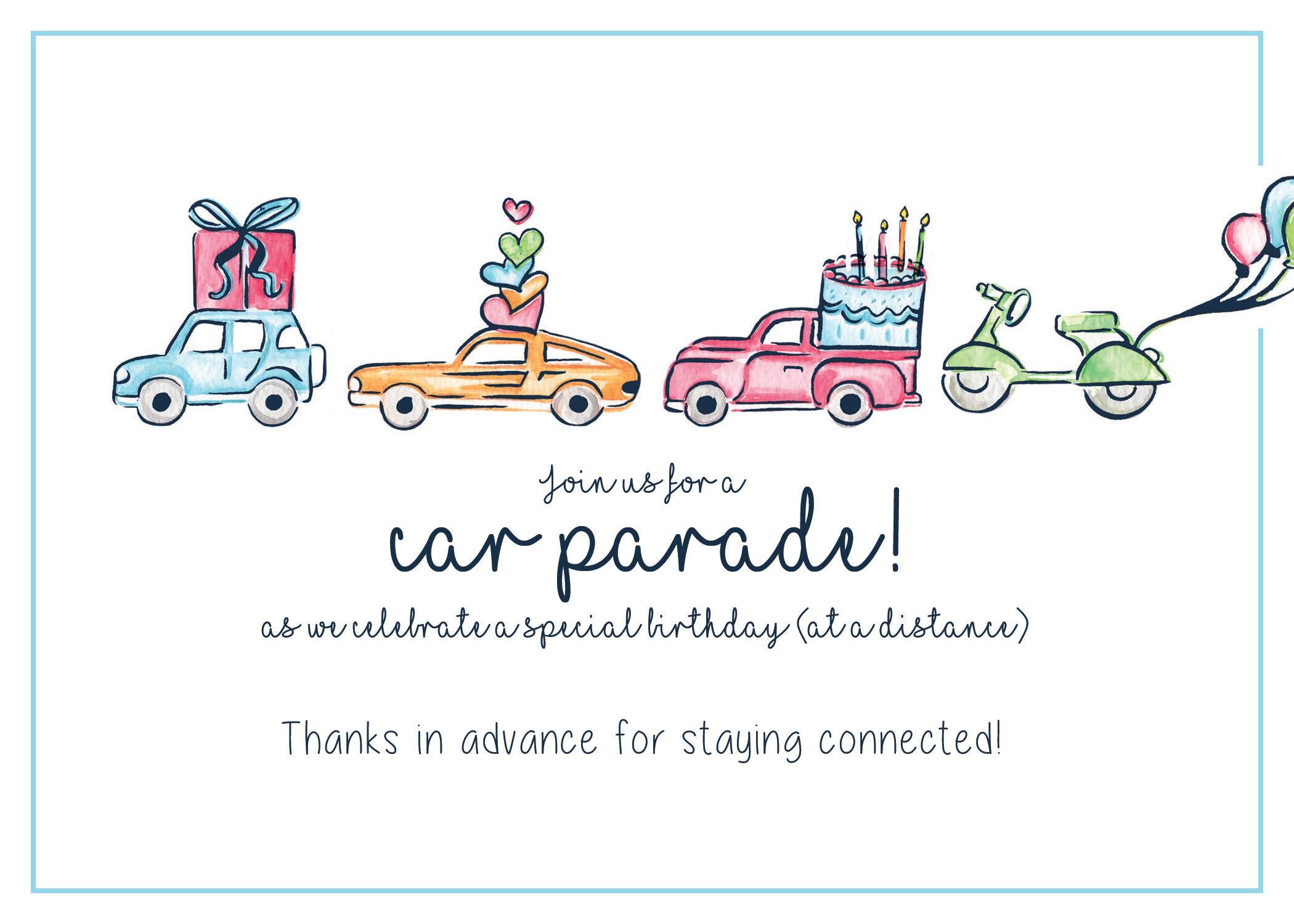 Car Parade Birthday by HostClub