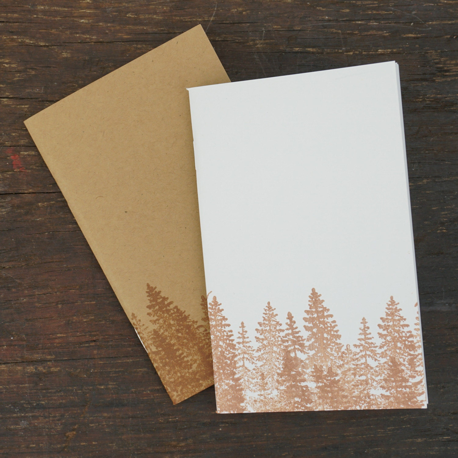 No two notebooks are alike when you create by hand. Kraft Notebooks.