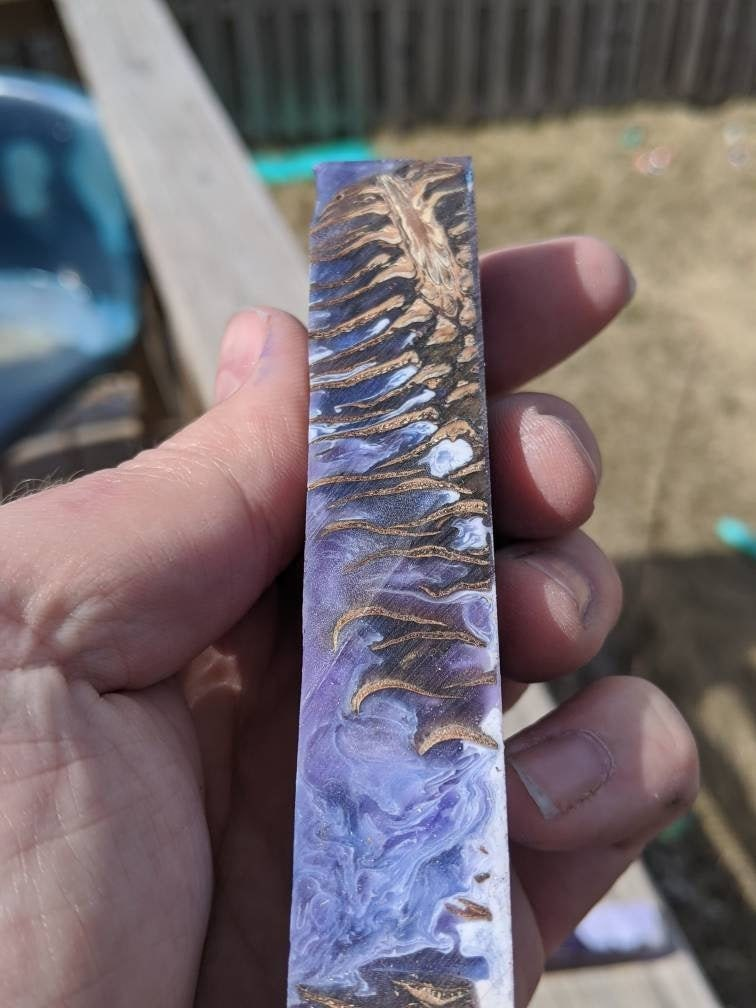 hybrid pen blank pinecone purple and white