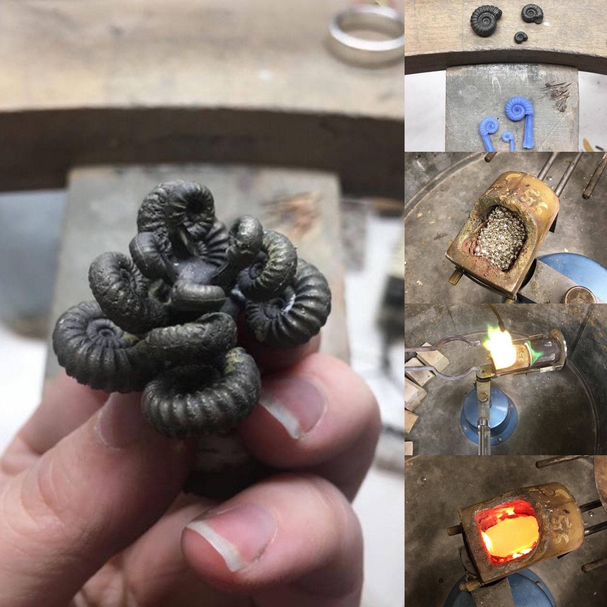 Silver Ammonite Casting