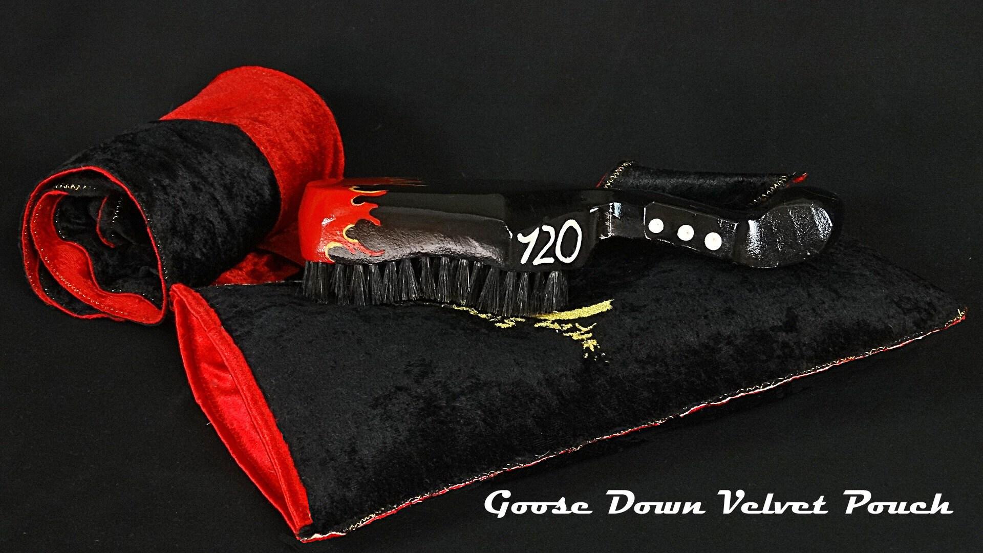 King Scorpion 360 Wave Brush (12 Row Tight) 360 Wave Brush + King Scorpion 360 Reversible Velvet Du-rag + Goose Down Velvet Pouch