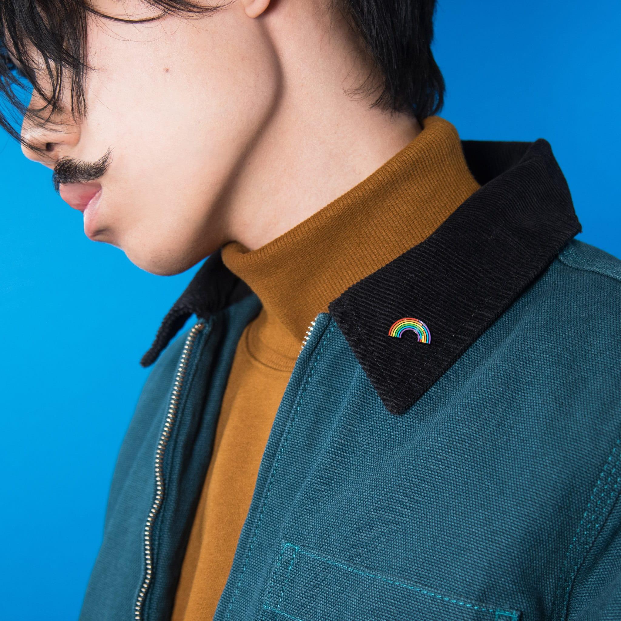 Rainbow LGBT Gay Pride Collar Pin Badge by The Pin Prick Etsy