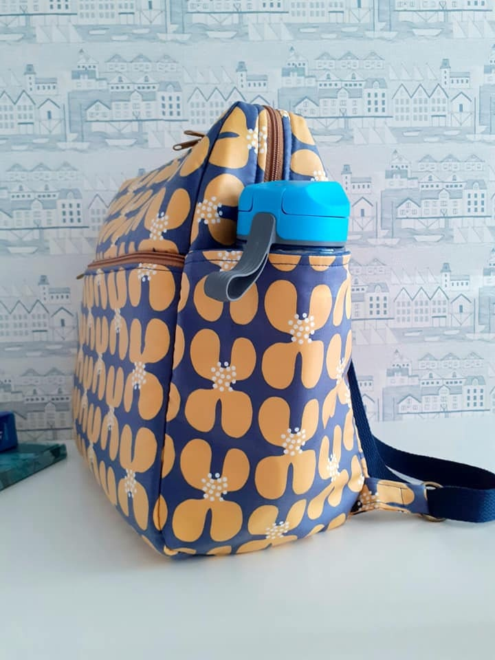 Fun Bobby wipe clean zip top backpack pattern Sincerely Jen