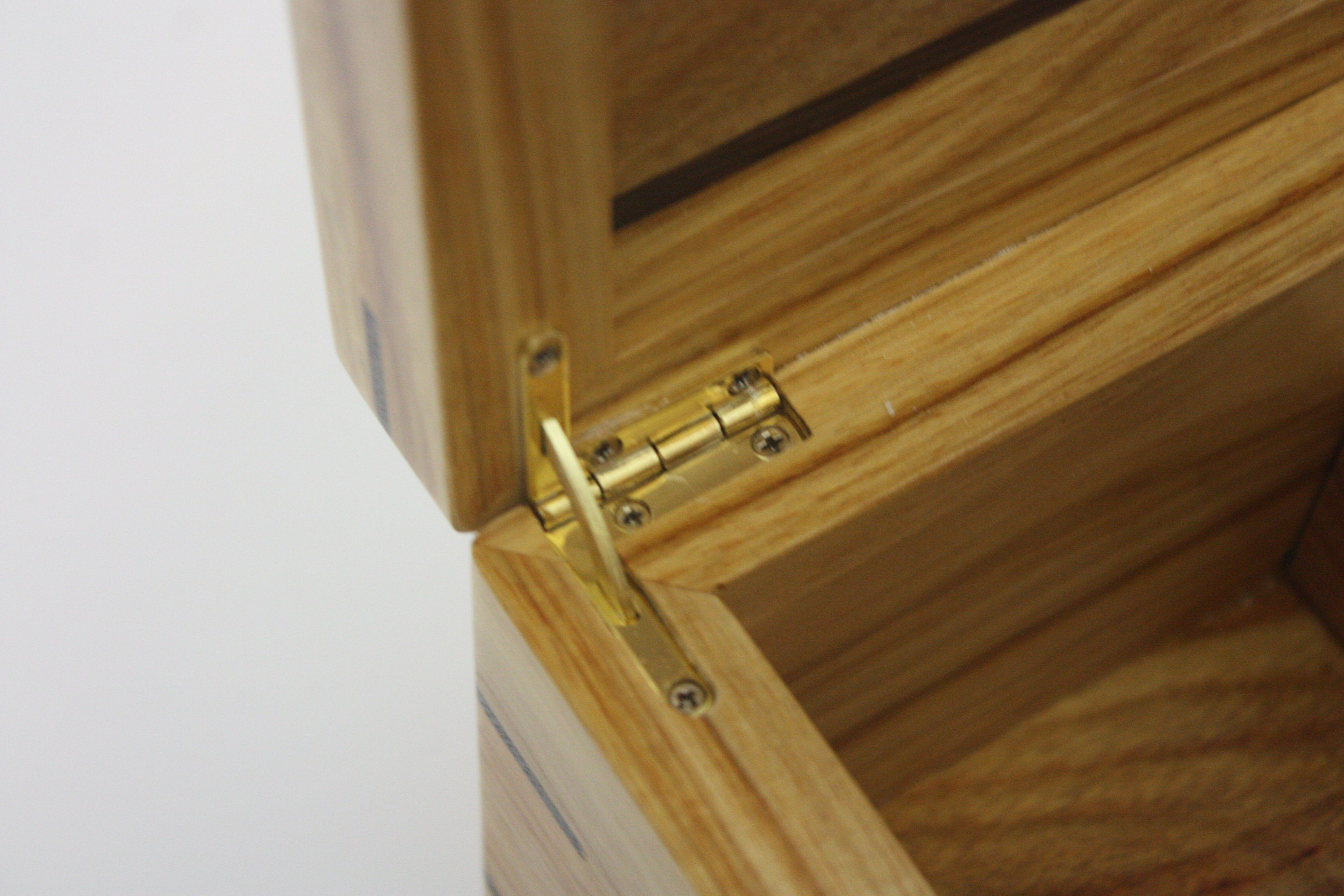 Canarywood Box with Quadrant Hinges