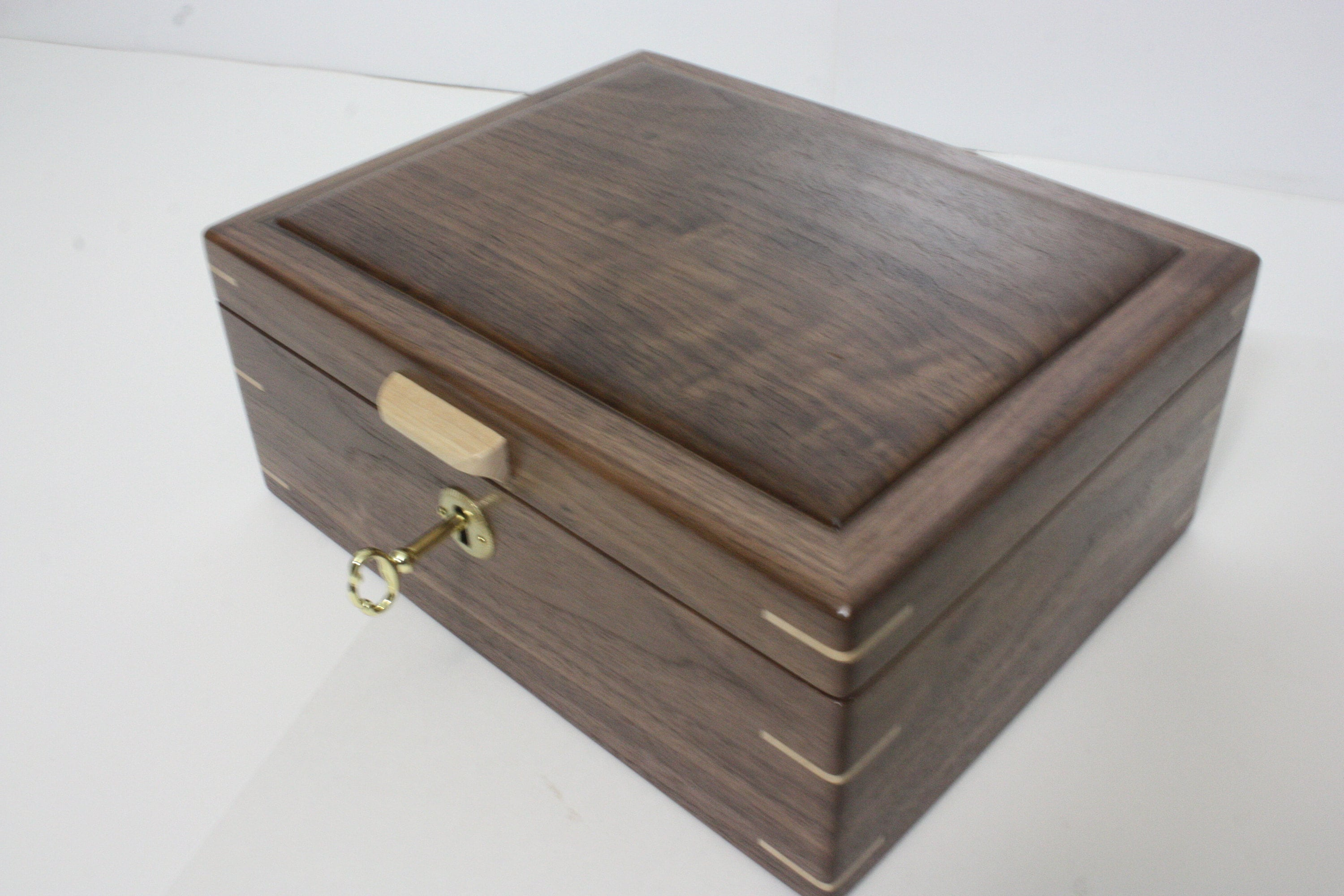Locking Black Walnut Box