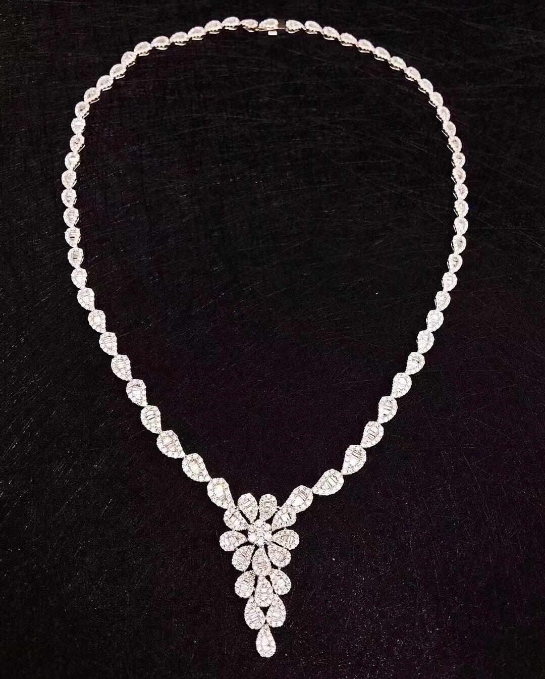 Diamond Necklace by Gem Select Crafts