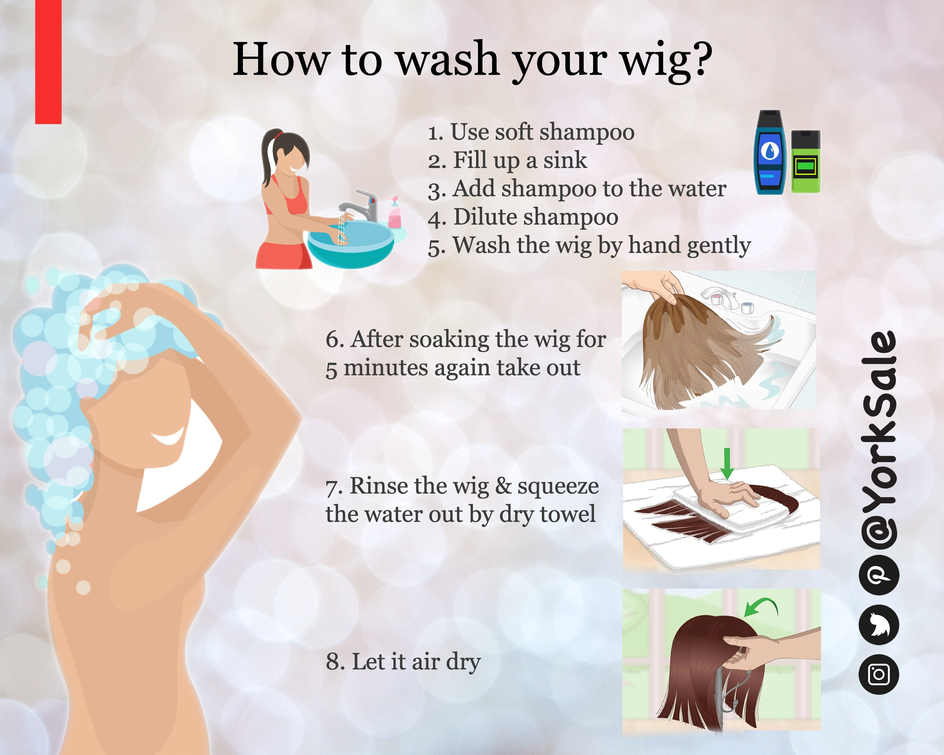 How to wash your wig!