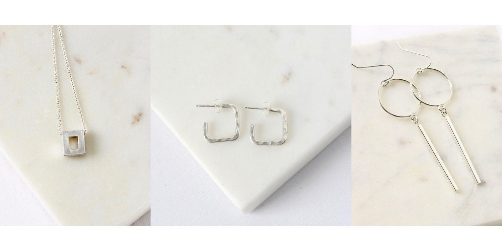 Sterling Silver Geometric Jewelry