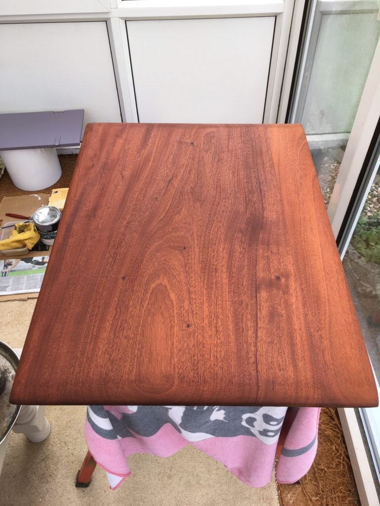 Danish oil on old wood