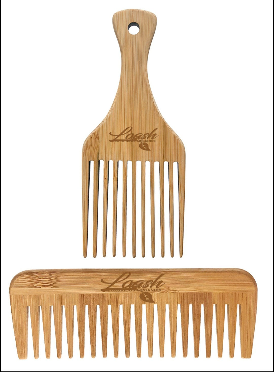 New Item Alert!!! Bamboo Pick & Bamboo Wide Tooth Comb