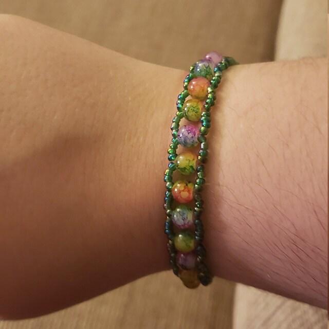 rainbow glass beads dojore