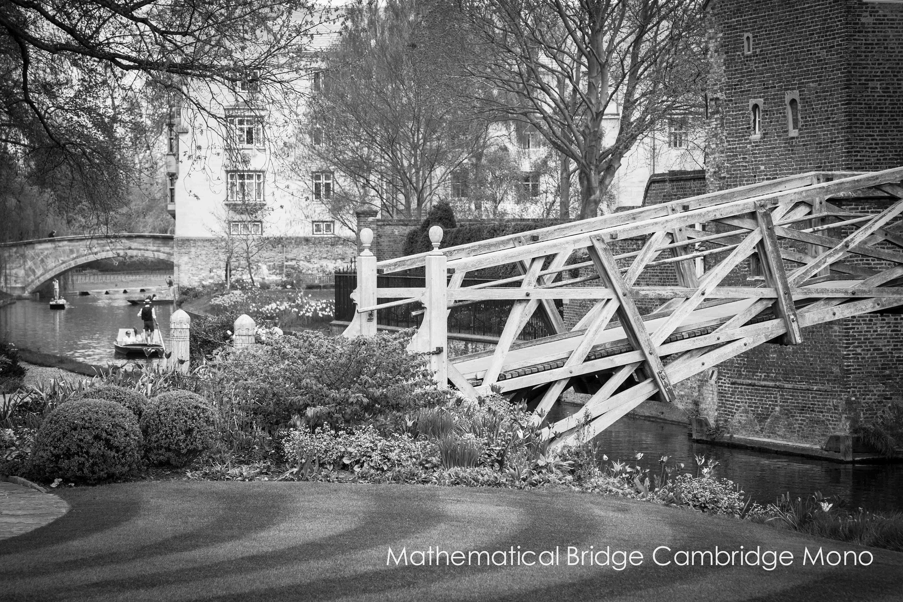 punting on the river cam in cambridge by the mathematical bridge and queens college cambridge university in various sizes , unframed and ready to hang wall art