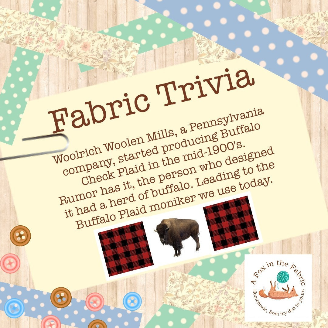 Fun Facts and Trivia about Buffalo Plaid Fabric