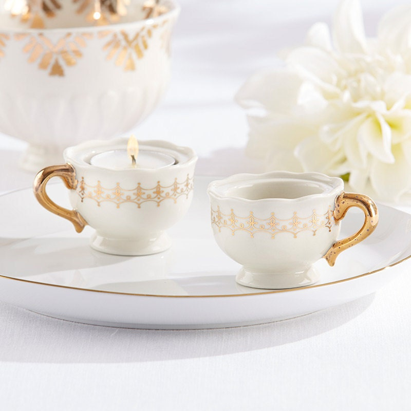 tea cup candle favors