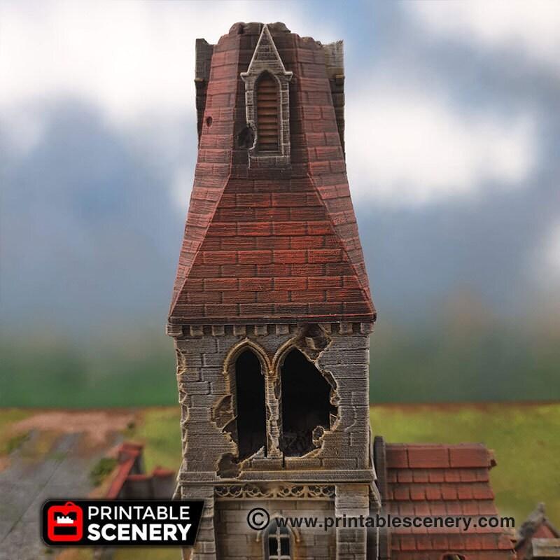medieval church ruins tower