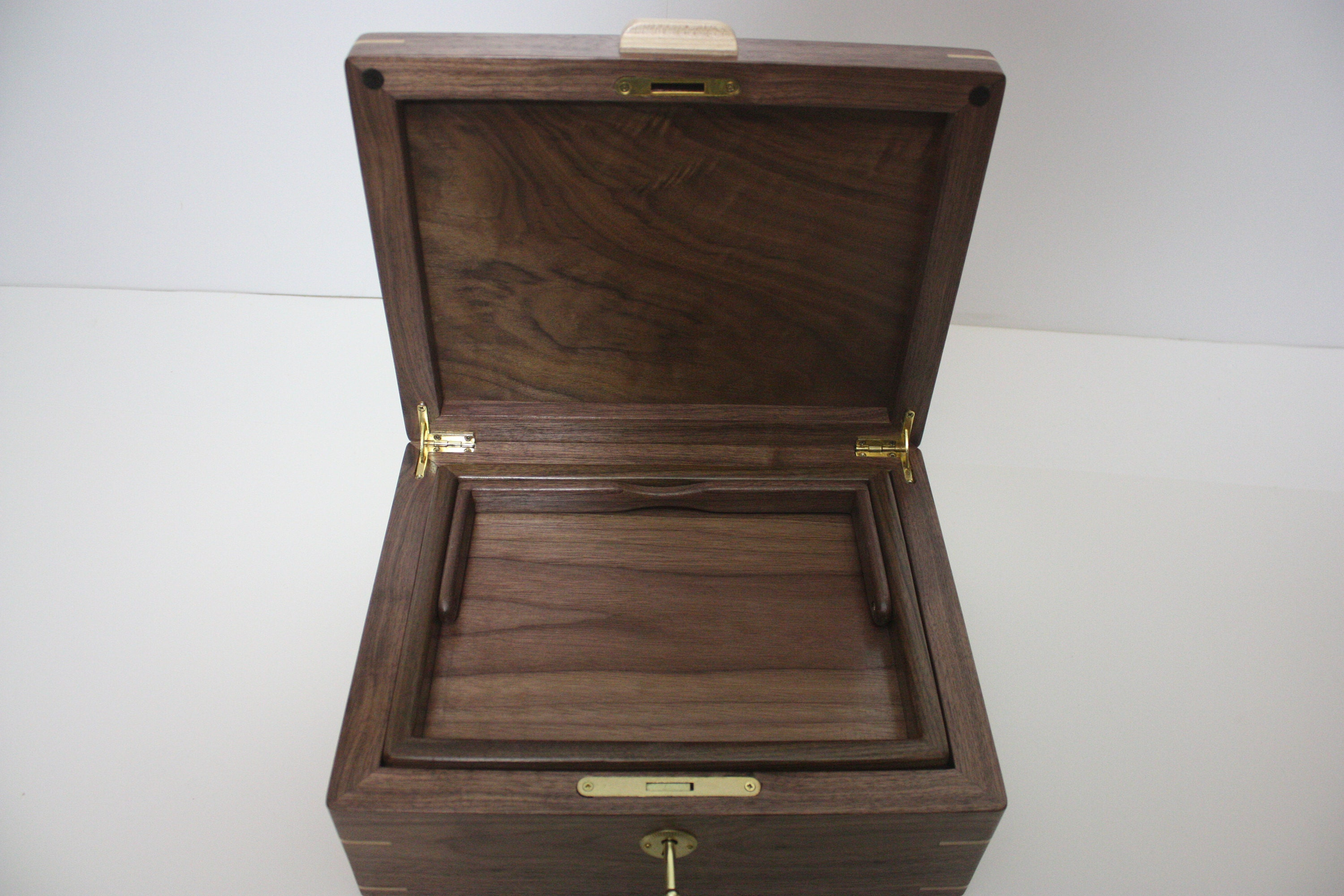 Wood Box with hinged lid