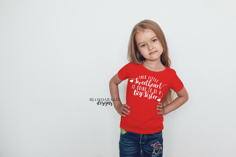 big sister valentines day shirt