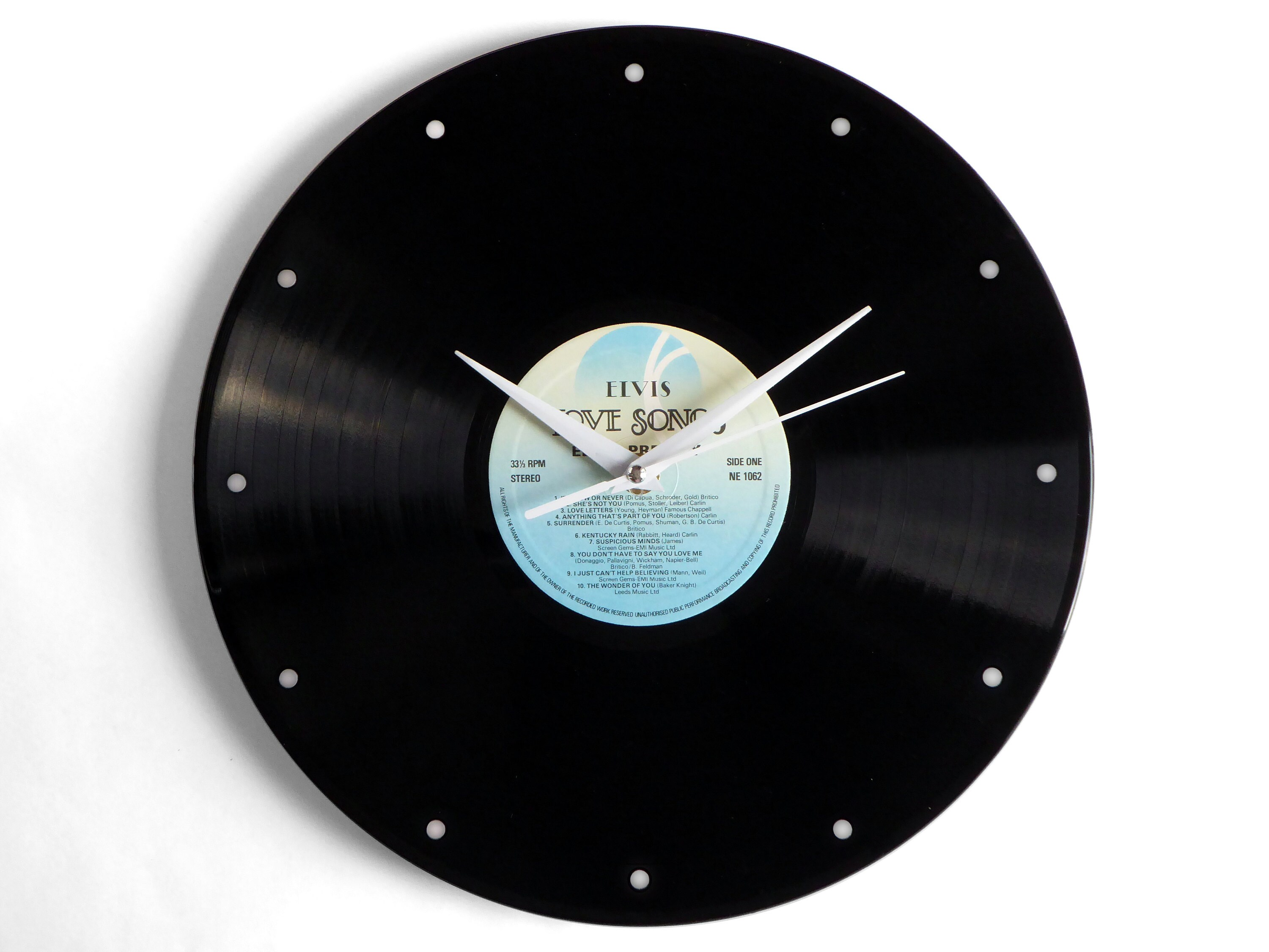 Elvis Presley Love Songs Vinyl Record Wall Clock