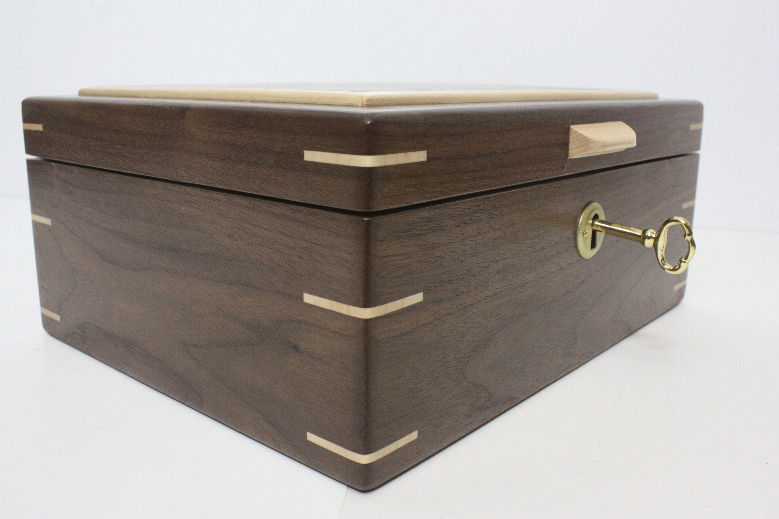 Locking Box with Hinged Lid For Sale