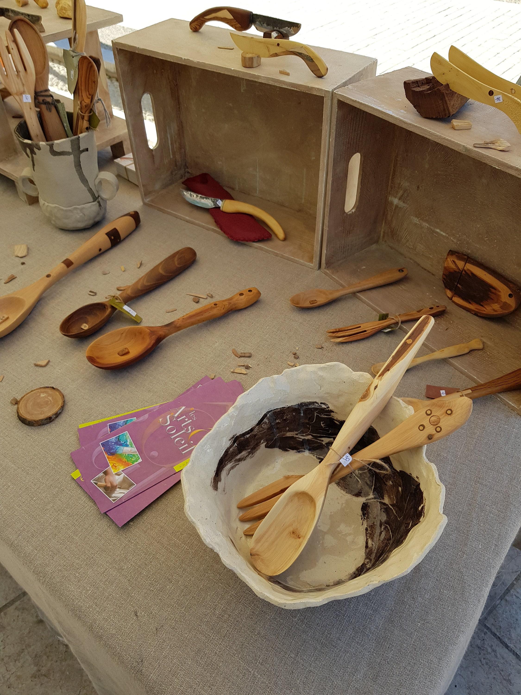 Lucas Poutout ustensile en bois journée dart de lIsle-sur-Sorgue