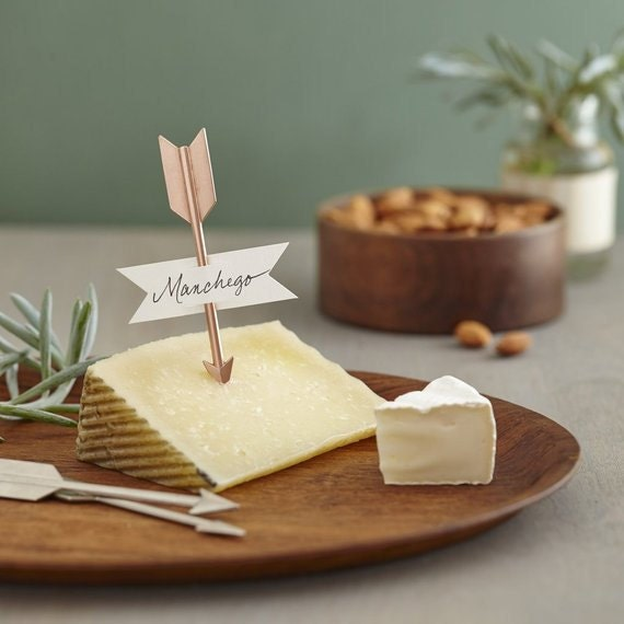 Rose Gold Arrows Cheese Markers