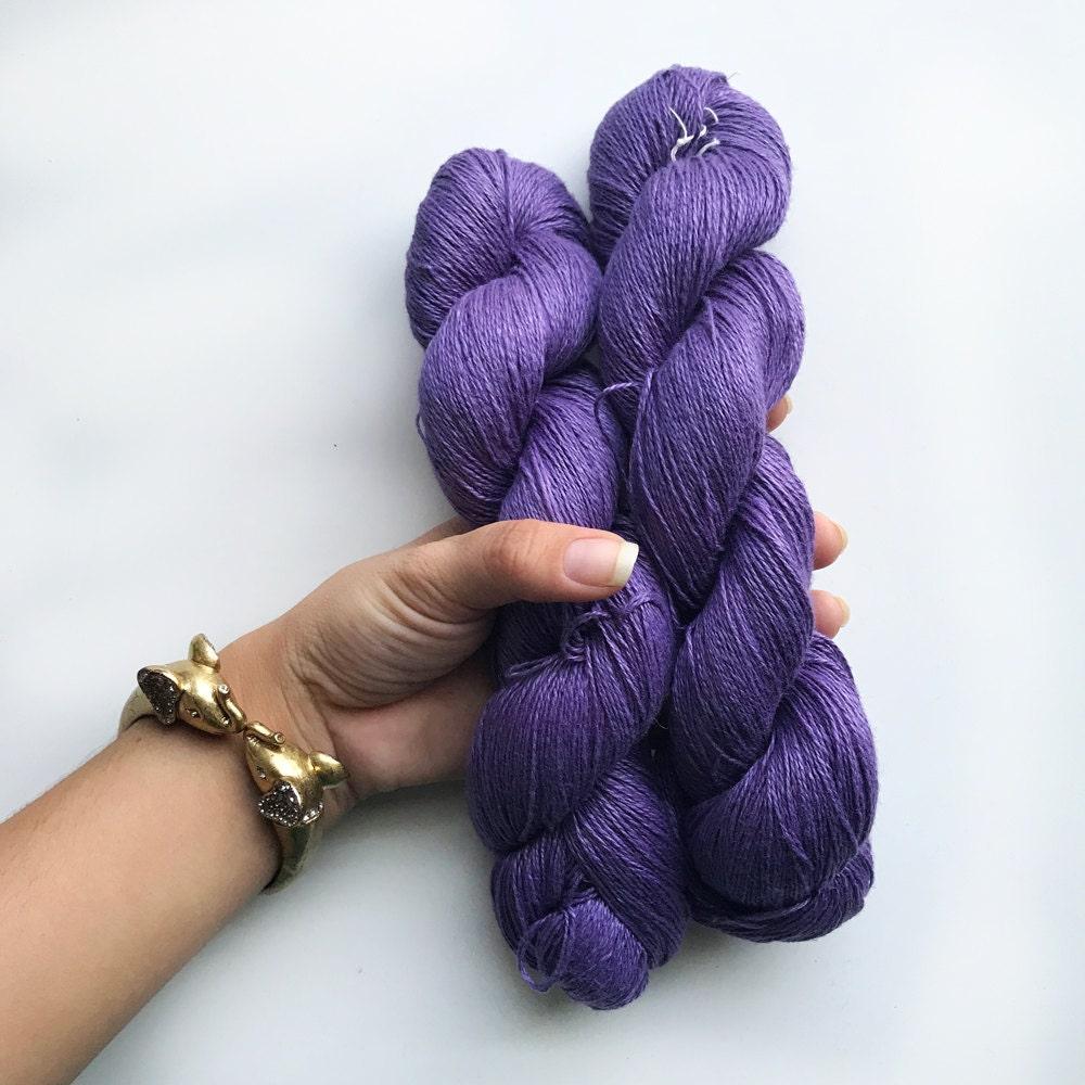 Darn Good Yarn, Sports weight Linene 2-ply Purple