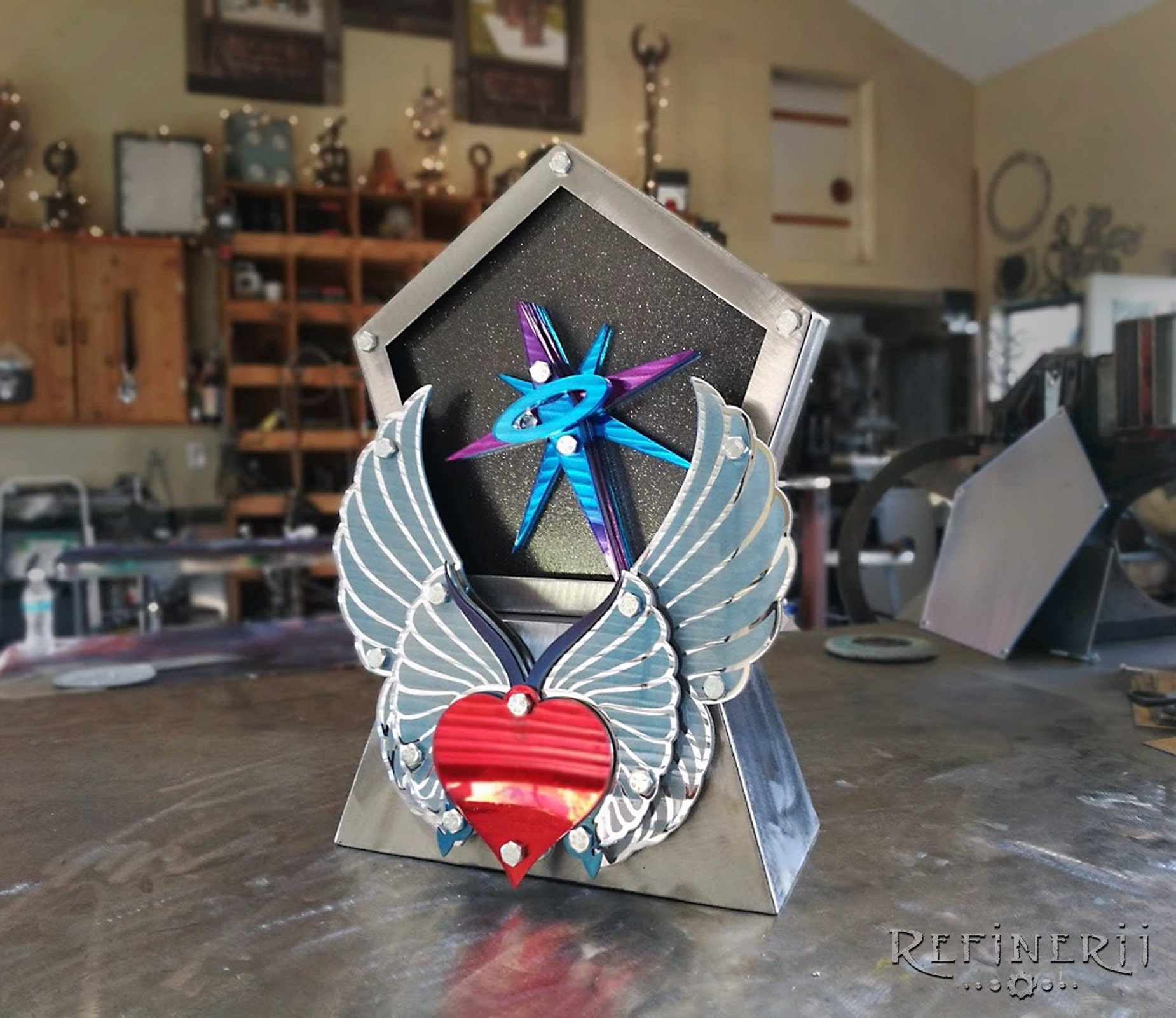 custom trophy award angel wings