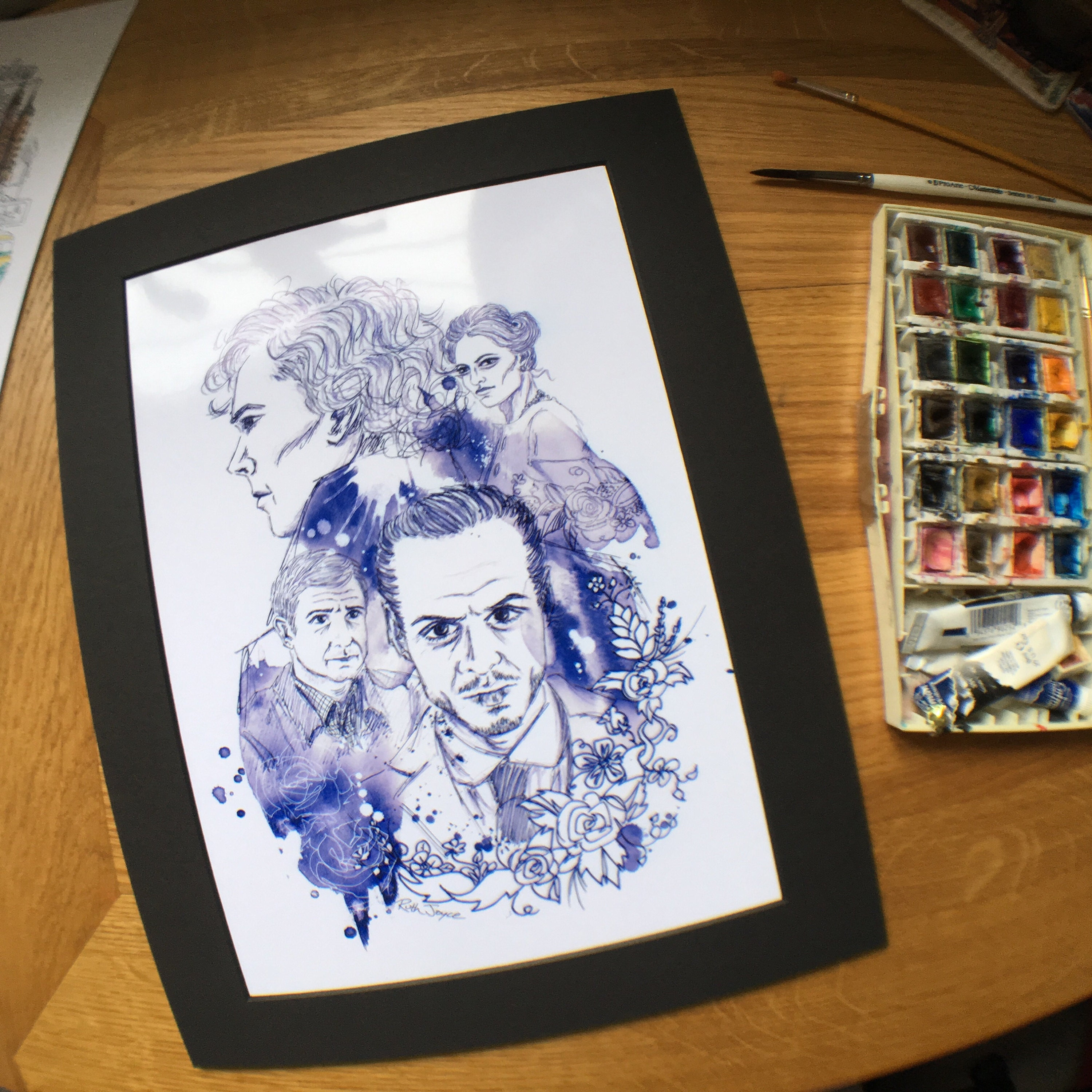 Sherlock illustration print