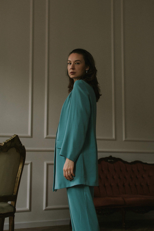 Turquoise vintage suit