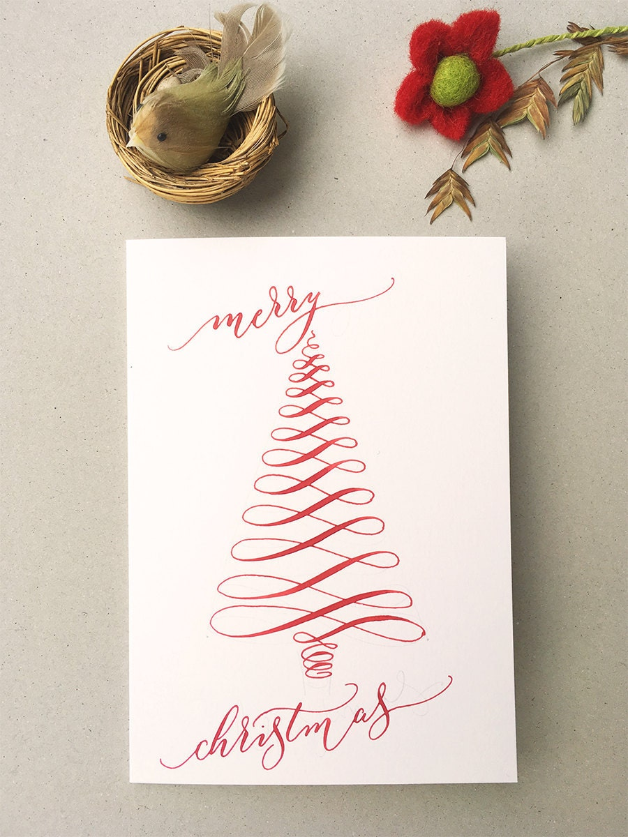 calligraphy christmas project