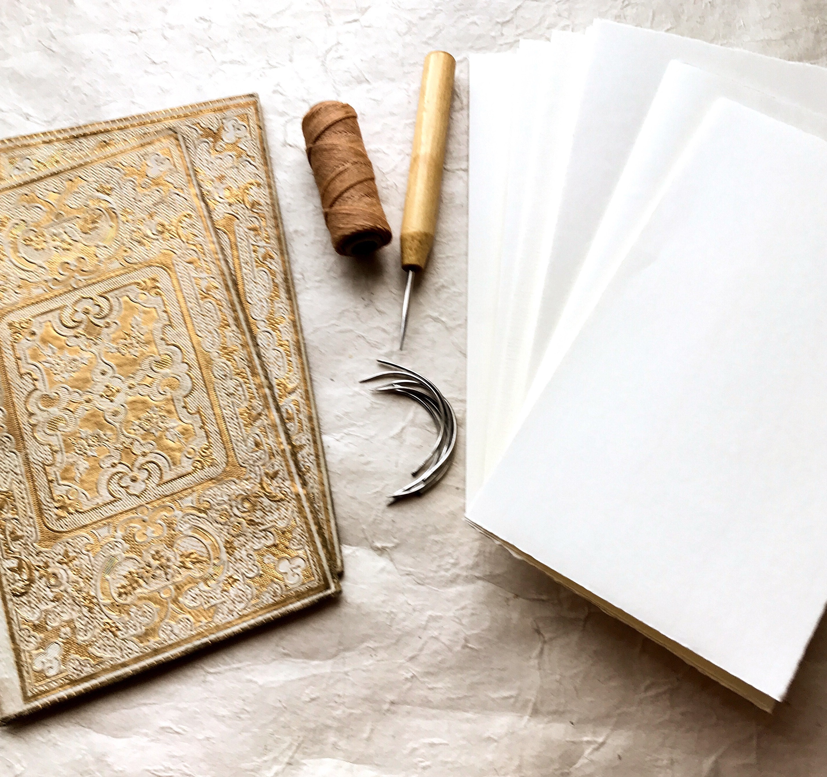 antique rebound guestbook