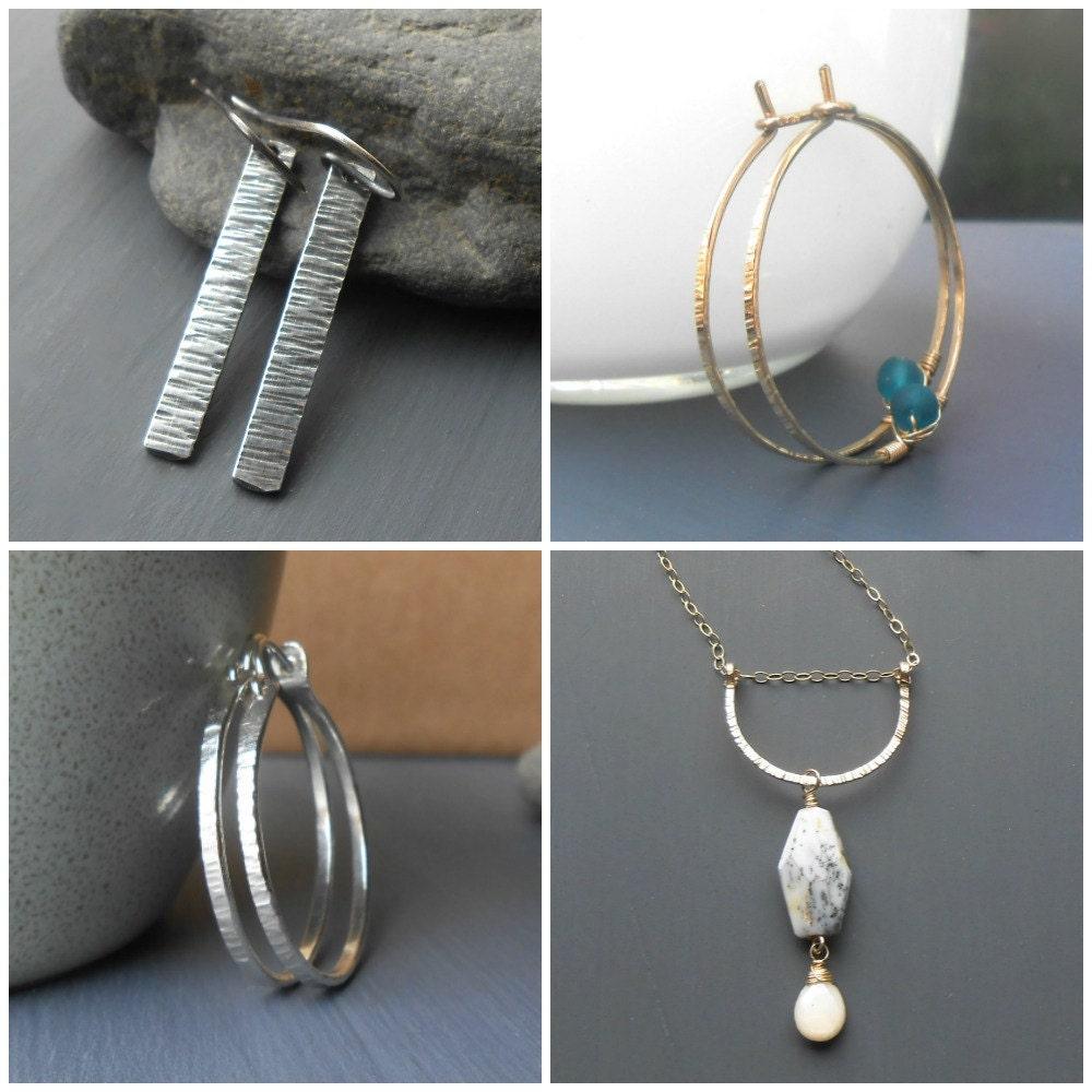 handmade hammered metal jewelry