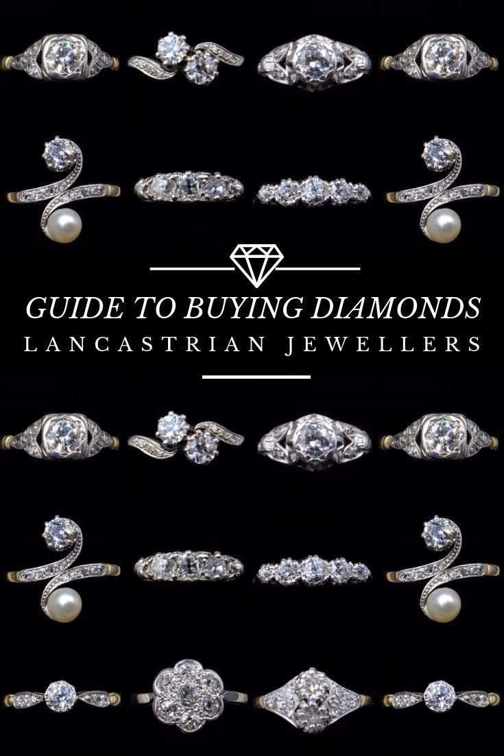 Pinterest Pin : Guide to Buying Diamonds