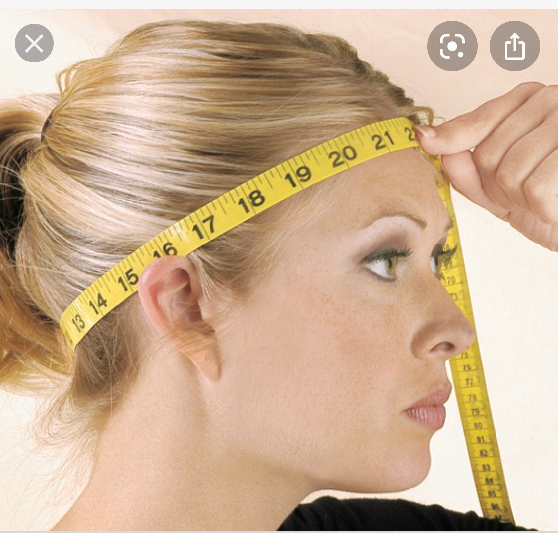 Measure your head with a measurement tape