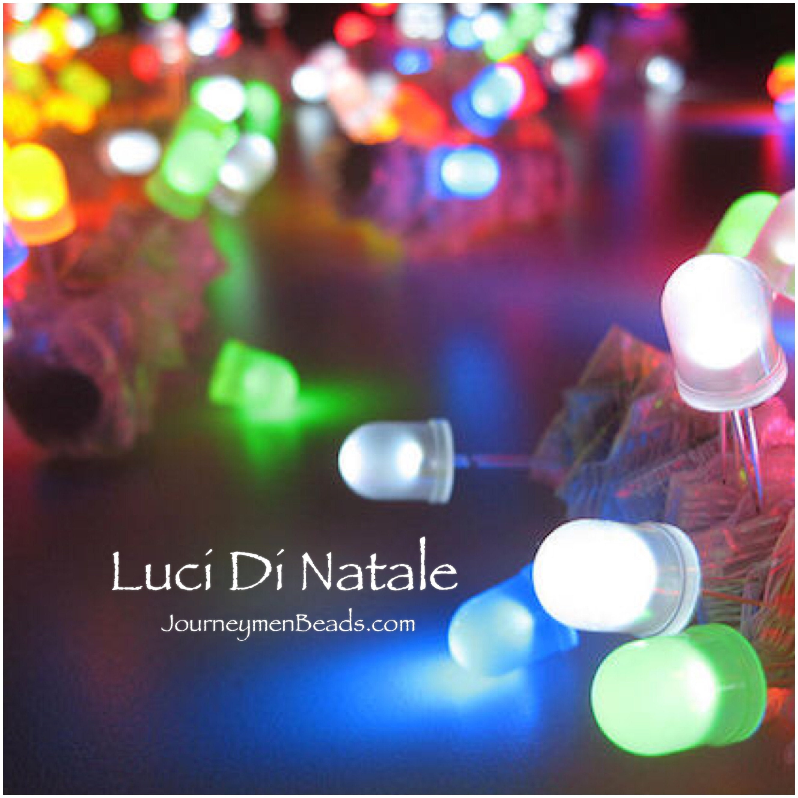 Our always popular Holiday bracelet Luci De Natale at JourneymenBeads.com