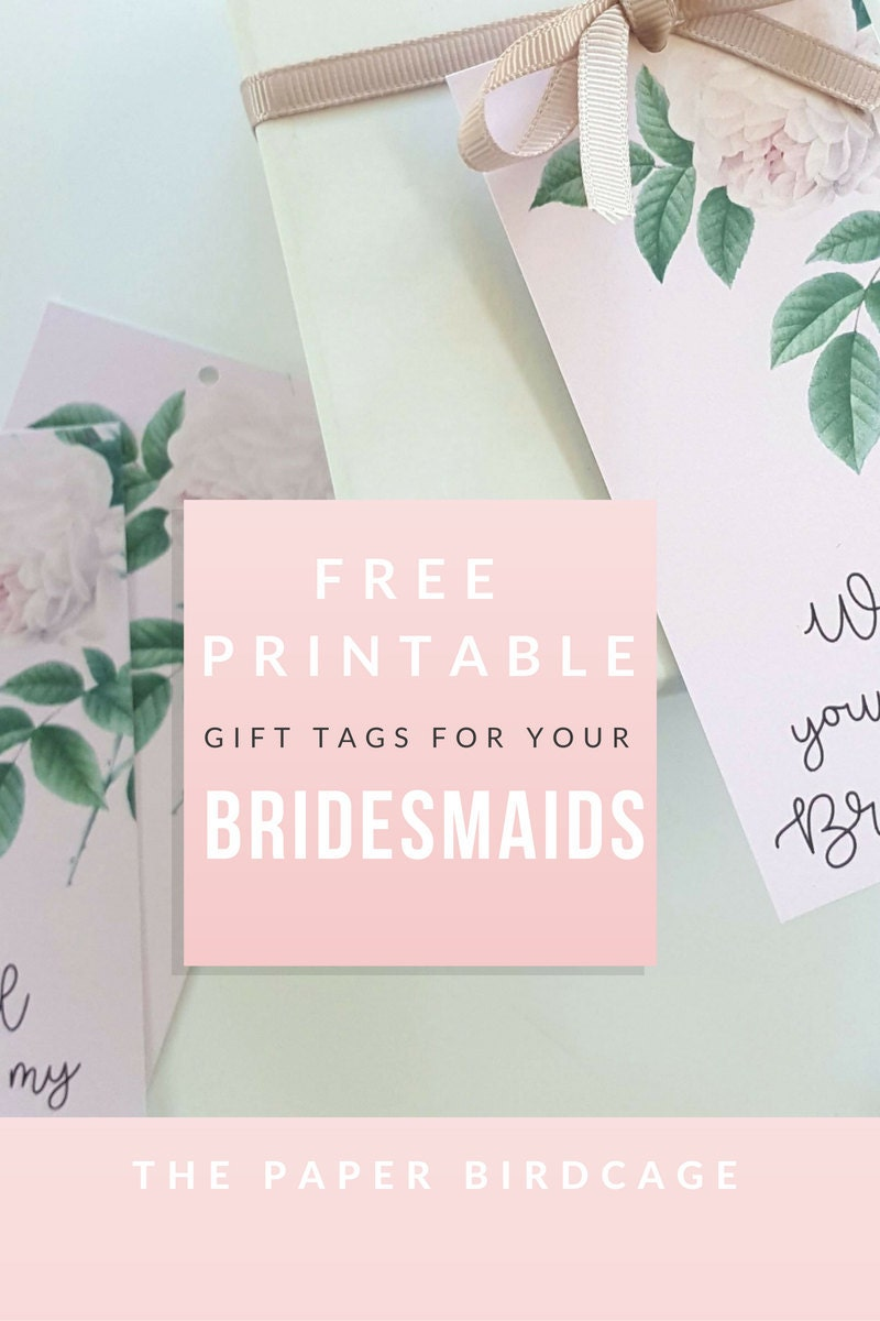 image relating to Will You Be My Bridesmaid Free Printable titled Will yourself be my Bridesmaid Present Tags - Totally free PRINTABLE